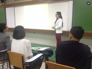 Ms. Pillar presents her research paper during ARAL's First National Congress on Action Research in Education held at DLSU.