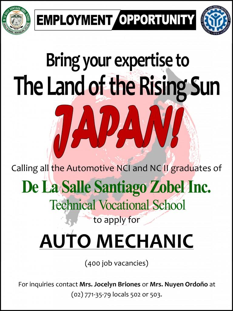 JAPAN job opening (1)