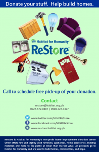 Donate your stuff. Help build homes. (1)