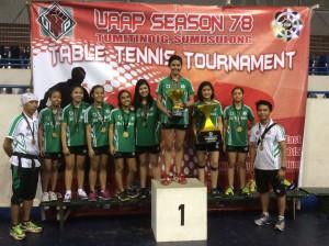 DLSZ Girls' Table Tennis Team
