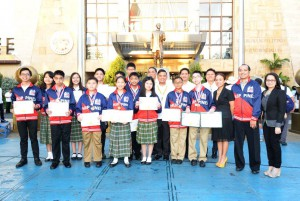 DLSZ Robotics Team after receiving recognition from Mayor Fresnedi.
