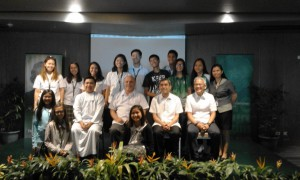 The DLSZ delegation with (seated, from left) Br. , Br. Bob, Br.