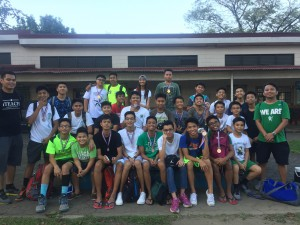 The DLSZ Handball Team together with Mr. Marvin Veluz and Mr. Freedom Andres after their game in Ateneo De Manila University.