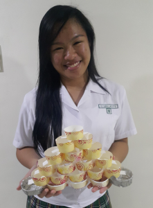 Laurice  Sy with her project