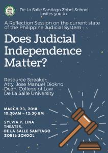 Judicial Independence Poster