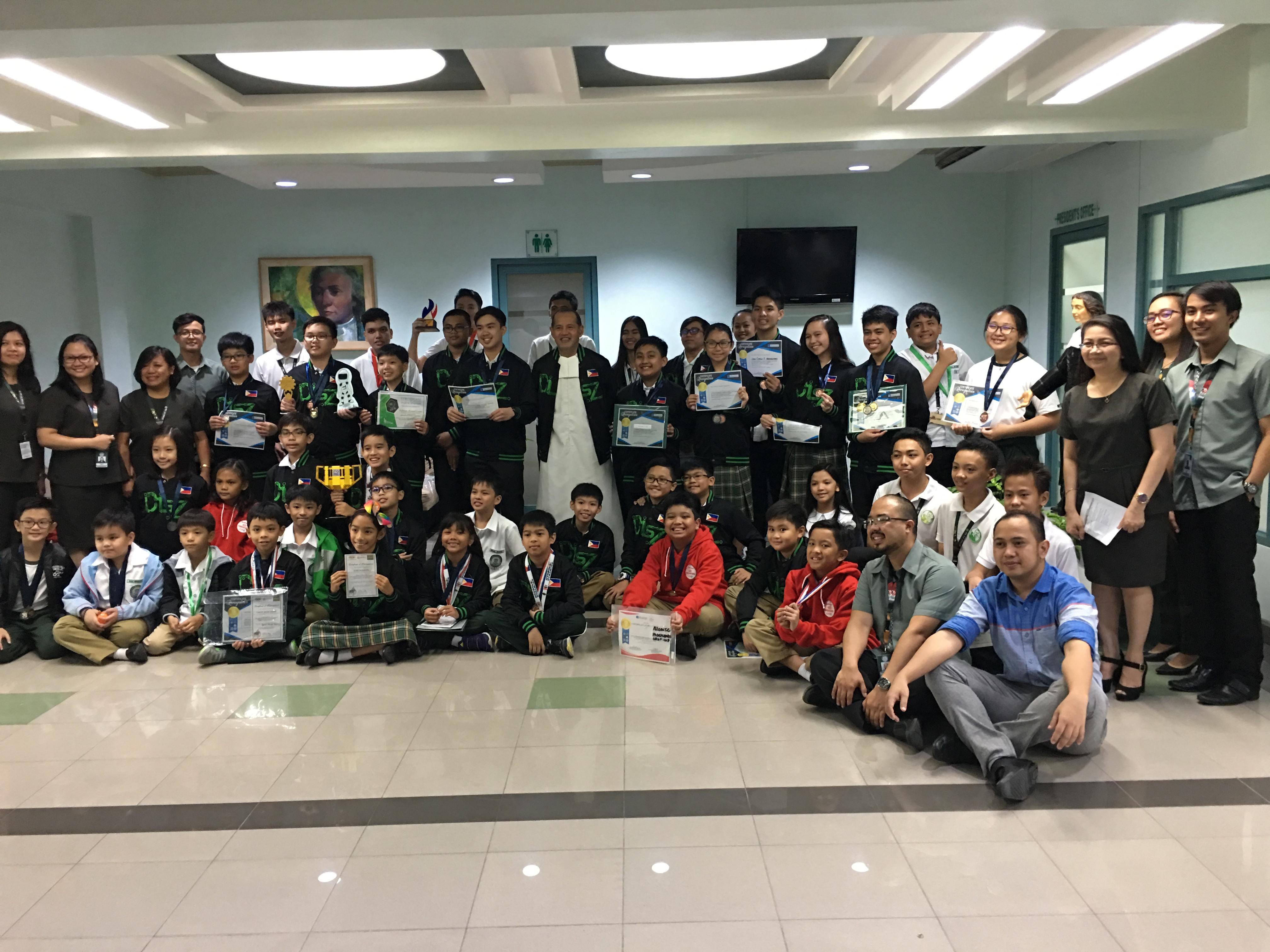 De La Salle Santiago Zobel Dlsz Robotics Team Wins 35 Medals In