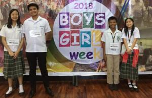 (L-R) Riva Fong, Jary Tolentino, Dominic Dimatulac, and Sage Espiritu