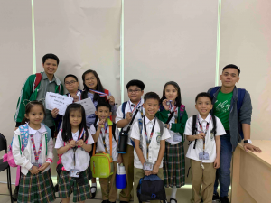 (L-R) Coach Charlie, Jan Rei, Anton, Athena, Andy, Zach, Gian, Milo, Julia, Joshua, and Coach Gabe