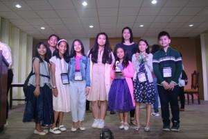 (L-R): Aldave, Ilano, Pagilagan, Lesaca, Gemora, Ms. Carol Ramos, Masirag, Cruz, Ponce